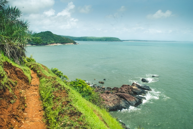 Way to Half-moon beach, Gokarna